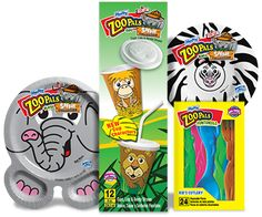 Hefty® ZooPals® Plates, Bowls & Cups for party food.