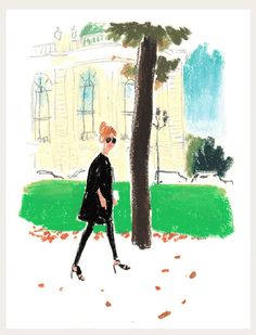 The Editors, Buyers and Enthusiasts of Paris Fashion Week, Part Two | The illustrator Damien Florébert Cuypers shares his impressions of the fashion set around Paris this week.