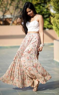 Long floral skirts were a must for me in high school lol :)