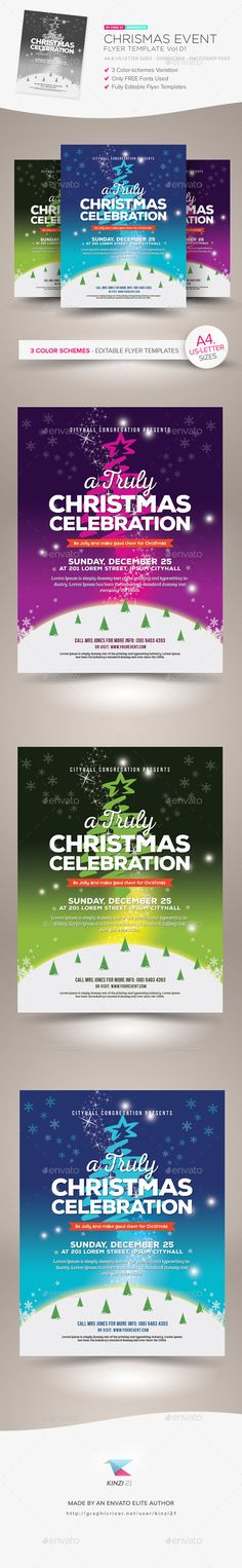 Buy Christmas Event Flyer Template by kinzishots on GraphicRiver. Christmas Event Flyer Template A flyer template pack perfect for promoting any kind of Christmas events. Christmas Events, Holidays And Events, Christmas Flyer Template, Photoshop, Event Flyer Templates, Event Flyers, Business Flyer, Holiday Fun, Party