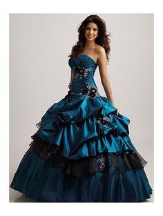 black and blue wedding dress - Google Search