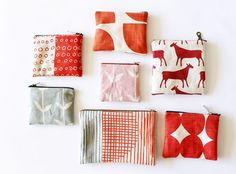 zipper pouches made from Skinny laMinx DIY squares