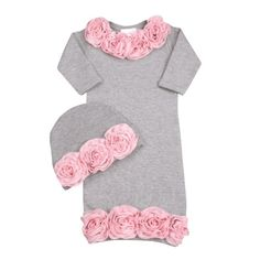 Unique Newborn Coming Home Outfits | Rose Garden Newborn Baby Girl Take Home Outfit | Coming Home Outfits ...
