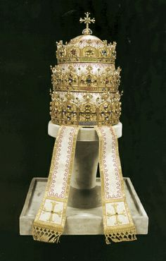 Most glorious of them all: the Triple Tiara in the Gothic Revival style presented to Pope Pius IX in 1871 by the Ladies of the Belgian Cour...