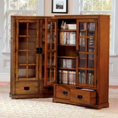 The Stafford Media Cabinet has glass doors to protect your CDs and DVDs from dust. This media storage cabinet has 2 drawers for additional storage. & 15 best CD Storage images on Pinterest | Cd storage Dvd storage ...