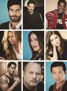 Grimm cast. Two thoughts: Nick needs to shave the beard (at least not so much of it, at least) and when did Captain Renard get muscles like those? (Seriously, where have they been hiding?)