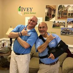 Thanks for all your hard work @guitarjayfrye and @hensley_kent and congrats on 11 years with Ivey Homes! (Link in bio)  #teamspirit #iveyhomes #teamwork #11 Ivey Homes is a local Augusta GA home builder. Homes from the Low $100's to custom.