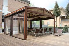 COBERTI Pergotenda 120 para exterior terraza o porche . #pergola #pergotenda #120 #madera #exterior #terraza #porche #jardin #corradi #coberti #malaga