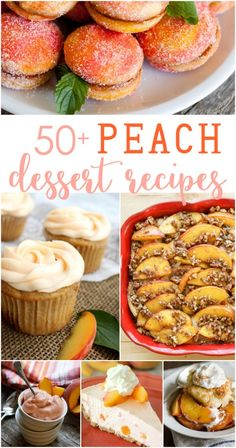 the best peach dessert recipes, Desserts, peach dessert recipe ideas! Motherload of peach recipes roundup! Fruit Recipes, Sweet Recipes, Dessert Recipes, Cooking Recipes, Easy Recipes, Dessert Simple, Easy Desserts, Food Inspiration, Love Food