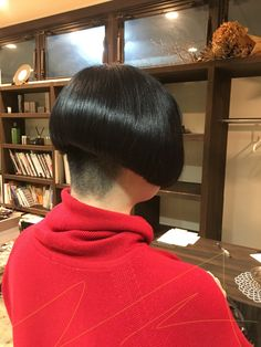 ~ Beau Decor ~ Bode Cole Ein Schönheitssalon in Imazumi, Fukuoka … - Haar Modelle Fukuoka, Hair Dye Colors, Hair Color, Asian Bob, Thick Bangs, Shaved Nape, Hair Tattoos, Bowl Cut, Bad Hair