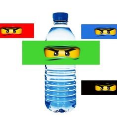 Ninjago Water Bottle Labels - INSTANT DOWNLOAD Printable labels / wrappers for water, soda, juice -