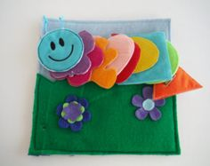 Buttoning Caterpillar Custom Quiet Book Page - Build a Personalized Busy Book Quiet Book Activity Book Busy Bag for Toddler & Preschoolers