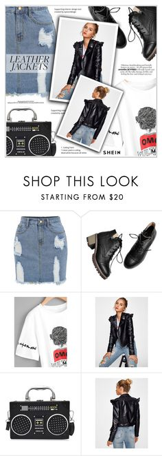 """""""Cool-Girl Style: Leather Jackets"""" by shambala-379 ❤ liked on Polyvore"""