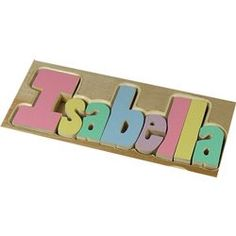 Trains Pastel Puzzle Name Stool- 9-12 Letters color Natural PLEASE TYPE THE CHILD'S NAME IN THE GIFT MESSAGE SECTION OF YOUR ORDER, OTHERWISE A FRIENDLY REPRESENTATIVE WILL CONTACT YOU.. 9 x 16 x 8H. Crafted Of: Birch Wood. Hand Crafted. There may be some natural streaking and/or small knots in the finished product.  #Ababy #Toy