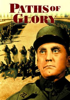 Paths of Glory is a film about the French army during the WW1, who tries to take a hill held by Germans but fails. The consequence of the failure yields a court martial and execution of three random soldiers to set an example. The Colonel, played brilliantly by young Kirk Douglas, defends the soldiers. Great script and story. Highly recommended.