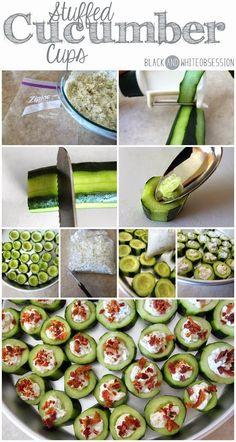 Stuffed Cucumber Cups | Best chef recipes