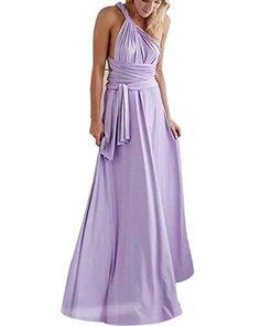 Women's Long Maxi Dress Convertible Wrap Cocktail Gown Ba...