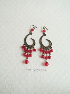 Hey, I found this really awesome Etsy listing at https://www.etsy.com/listing/225946023/red-chandelier-earrings-long-vintage-red