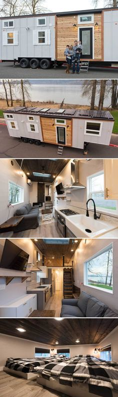 From Gresham, Oregon-based Tiny Innovations is the Cayman, a gooseneck tiny home available with two- and three-bedroom options.