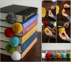 Creative Ideas - DIY Adorable Pompom Bookmarks | iCreativeIdeas.com Follow Us on Facebook --> https://www.facebook.com/iCreativeIdeas