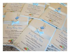 Peter Rabbit Christening invites. Deannamic Designs