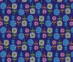 FLOWERS_INK fabric by heidiryancreative on Spoonflower - custom fabric