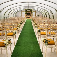 The wedding poly tunnel looking beautiful for today's ceremony - #colstoun