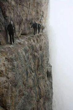 'Via Ferrata' Bocchete on the Dolomiti Del Brenta, Italy