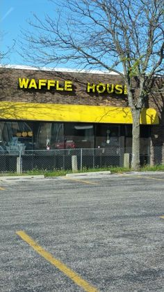April 17, 2016-OMG!  A Waffle House!!  We don't have these and I have missed a pecan waffle and a cuppa joe!