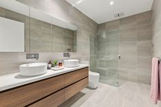 Townhouse - Bentleigh East - Modern - Bathroom - Melbourne - by Langford Jones Homes Modern Bathroom, Townhouse, Toilet, Vanity, Melbourne, Budget Bathroom, Traditional Bathroom, Design Ideas, Homes