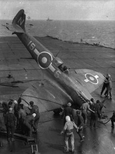 Supermarine Seafire: Operational History — Armoured Aircraft Carriers in World War II Ww2 Aircraft, Military Aircraft, Hms Illustrious, Royal Navy Aircraft Carriers, The Spitfires, Supermarine Spitfire, Flight Deck, Wwii, Fighter Jets