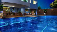 As primeiras piscinas do mundo surgiram nas pirâmides do Antigo Egito. Quem não gosta de uma boa piscina para se divertir ou fazer exercícios? Neste projeto a piscina é generosa, com raia exclusiva para os nadadores e iluminação especial para as noites verão. #lovemyjob #faztodadiferença #porjulianadesa #piscina #curiosidade #exercício #lazer #projeto #arquitetura #design #interiores