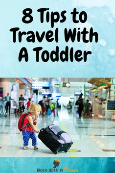 Do you want to travel with your young child but not sure how he or she will behave on the plane? These 8 tips will help you travel happily with your child. #Travelwithbaby #travelwithkids #travelwithtoddler