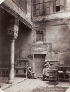 Abdullah Freres-Courtyard of an arabic house in Egypt, 1870