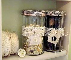 Alyssabeths Vintage: Shabby Chic Button Jars