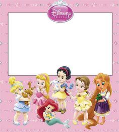 Princesas Bebés Disney: invitaciones para imprimir gratis.