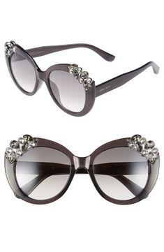 c932b1675387 Jimmy Choo 'Megan' 53mm Crystal Embellished Round Sunglasses | Nordstrom