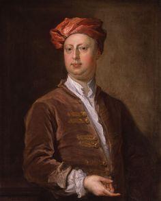 William Kent - National Portrait Gallery, Londyn. Do realizacji swojej wizji zatrudnił Williama Kenta, najsłynniejszego wówczas projektanta ogrodów w Anglii. W młodości przez dekadę przebywał w Rzymie, gdzie odebrał solidną edukację z kultury antycznej i włoskiej. Stąd też wprowadzał w swych dziełach elementy w stylu palladiańskim, harmonijnie komponując je z angielskim krajobrazem.