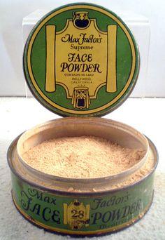 1920s Max Factor Theater Supreme Face Powder Tin 2 3 Full No 28 Tindeco Tin.