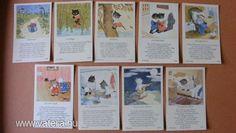 Miaú - Eredeti Ida Bohatta szorgalom kártyák, a 30-s évekből! Original Rare Print! Fleißbildchen