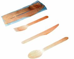 "Packnwood Wooden Cutlery Set of Fork, Knife and Spoon, 6.5"" Length (Case of 250 Sets) by Packnwood, http://www.amazon.com/dp/B0084X6CVQ/ref=cm_sw_r_pi_dp_93WZrb1270ADM"