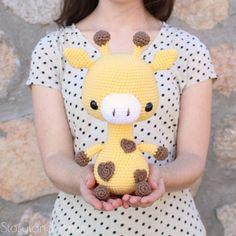 PATTERN: Cuddle-Sized Giraffe Amigurumi Crocheted Giraffe | Etsy