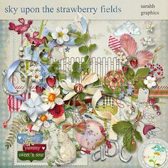 sky upon the strawberry fields by sarahh graphics Digital Scrapbooking, Scrapbooking Ideas, Wild Strawberries, Strawberry Fields, Scrapbook Designs, Sky, Zig Zag, Sweet, Fragrance