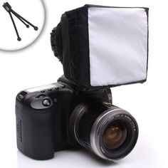 Amazon.com: Pop-Up Soft Box External Flash Diffuser with Mini Tripod for Nikon D3200 , D5100 , D7000 and Many More Nikon Digital SLR Cameras: Camera & Photo