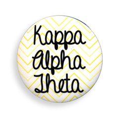 Kappa Alpha Theta Chevron Script Button from GreekGear.com
