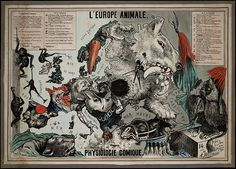 L'Europe Animale - Physiologie Comique, 1882