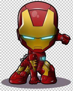 Iron Man Chibi Superhero Marvel Comics PNG - Free Download