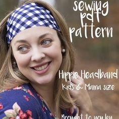 wide stretch headband for adults or kids  |  free #sewing #pattern