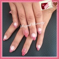 Mini Mouse Nails... Pure Red with white polka dots... ❤️Welcome to Mini's Bowtique❤️