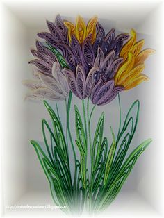 Quilled Tulips in a Shadowbox